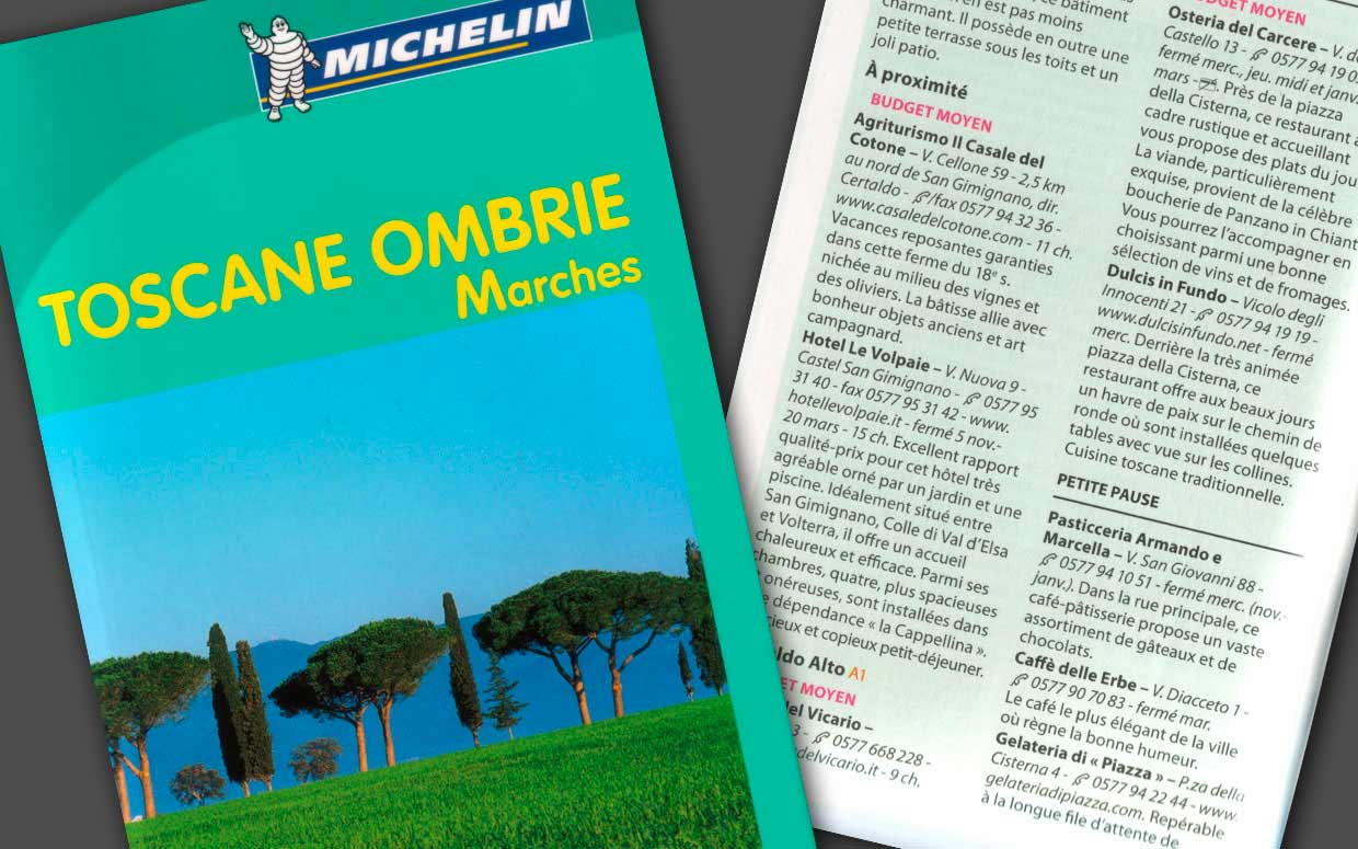 Michelin toscane ombrie