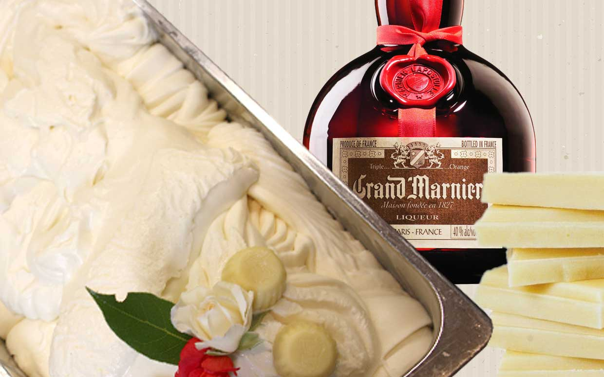 White chocolate and Grand Marnier